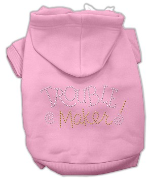 Trouble Maker Rhinestone Hoodies Pink XL (16)